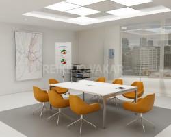 Posėdžių, konferencijų biuro stalas ant metalinio rėmo QX72
