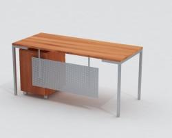 Išpardavimas. Tiesus darbo stalas ant metalinio karkaso G14Wi