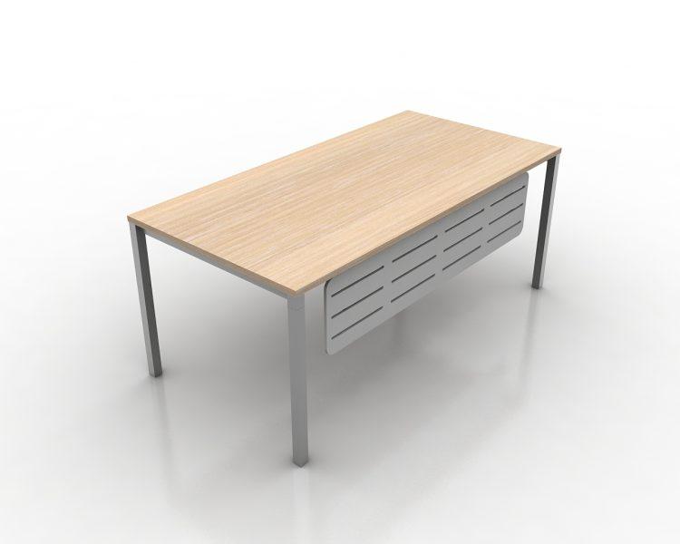 Tiesus Vadovo darbo stalas ant metalinio karkaso VG2