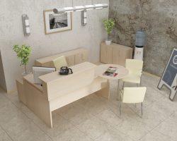 Kampinis darbo stalas- Recepcija M1