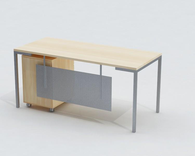 Tiesus darbo stalas ant metalinio karkaso G1
