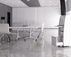 Sulankstomas posėdžių konferencijų biuro stalas Fot
