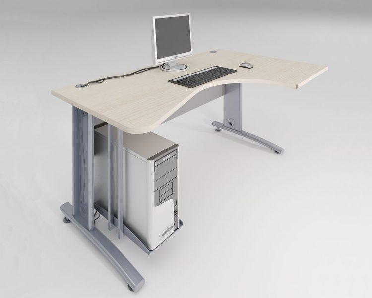 Kampinis darbo stalas ant metalinio karkaso AST2