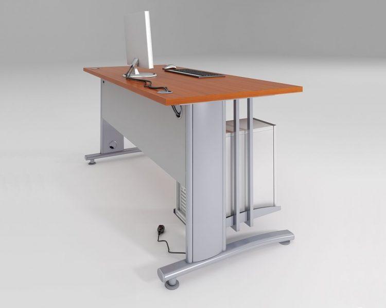 Tiesus darbo stalas ant metalinio karkaso AST1