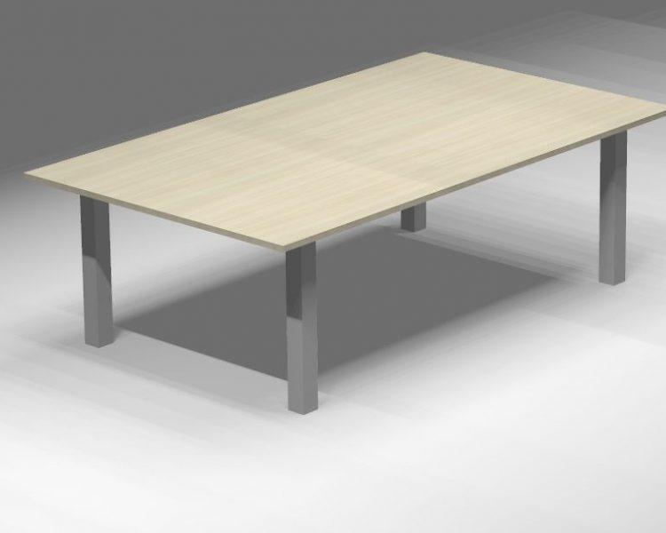 Posėdžių konferencijų stalas ant metalinio karkaso OXi