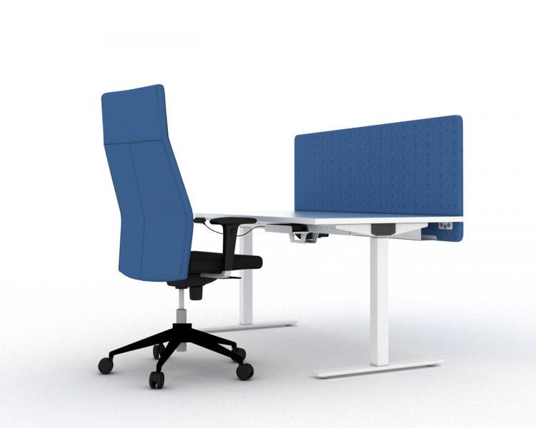 Ergonomiškas elektra reguliuojamo aukščio biuro darbo stalas 1TE. Sandėlyje