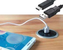 Bevielis telefono įkroviklis, montuojamas į stalą. Sandėlyje